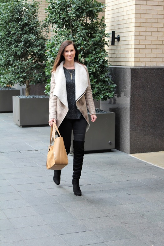 Zaful Shearling Jacket 4